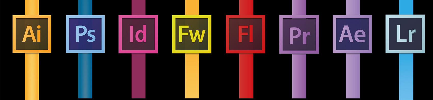 Logos aplicaciones Adobe Creative Cloud